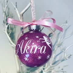Personalised Fairy Themed Bauble