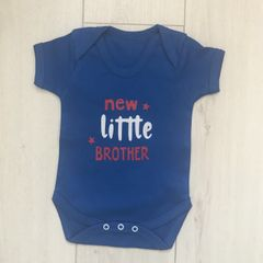 New Little Brother / Sister Baby Body Suit (Choice of Colour)