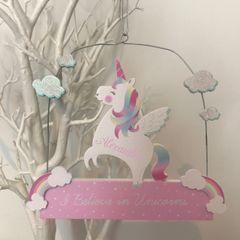 Personalised Unicorn Sign