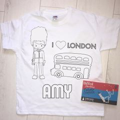 Personalised London Colouring In T'Shirt