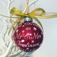 1st Christmas As Mr & Mrs Bauble
