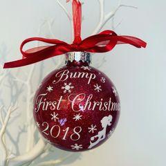 Bumps First Christmas Bauble (Glitter)