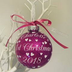 Baby's 1st Christmas Bauble (Glitter)