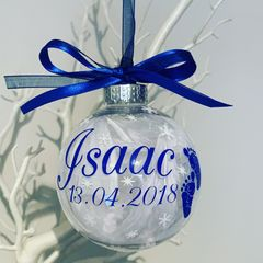 Angel Baby Memorial Bauble (Feather)