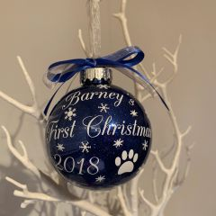 Pet's First Christmas Bauble (Glitter)