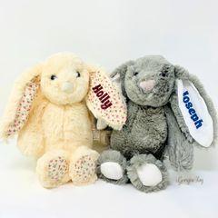 Personalised Bunny (Cream or Grey)