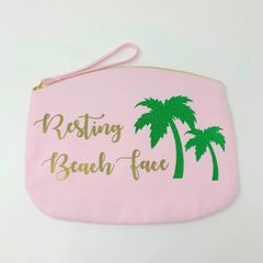 Resting Beach Face Accessory Bag (Choice of Colour & Size)