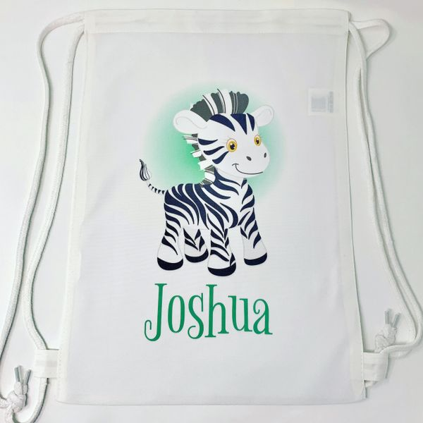 Personalised Childrens Zoo Animal Bag (various charatcer & bag options)