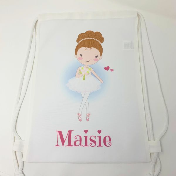 Personalised Ballet Themed Bag (Lots of options available)