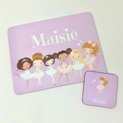 Ballet Themed Placemat and Coaster Set