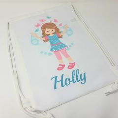 Personalised Butterfly Girl Bag (Various options available)