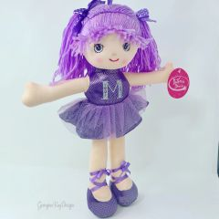 Personalised Ballerina Plush Rag Doll