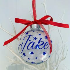Personalised Name Bauble (Feather)