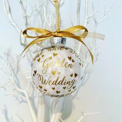 Golden Wedding Anniversary Bauble