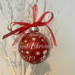 Bumps First Christmas Bauble (Glitter)