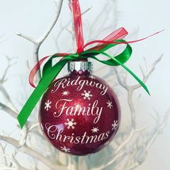 Surname Family Bauble