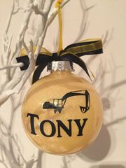 Construction themed Bauble