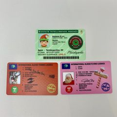 Christmas Fake Driving Licence / Tow Licence or Elf Agency Card