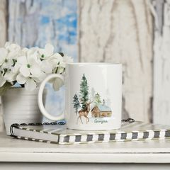 Personalised Winter Forest Christmas Mug