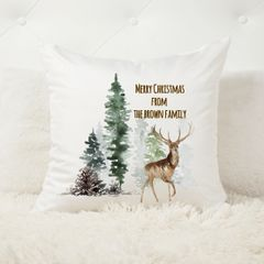Winter Forest Personalised Cushion Cover and Insert