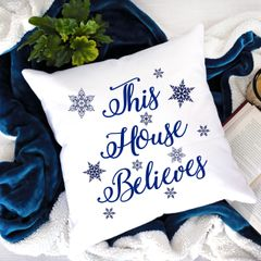 This House Believes Snowflake Cushion