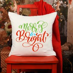 Merry and Bright Christmas Cushion
