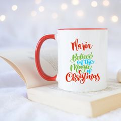 "Personalised ""Believe in the Magic of Christmas"" Mug"