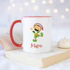 Personalised Elf Mug