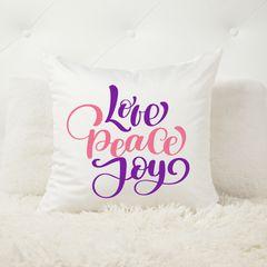 Love Peace and Joy Christmas Cushion