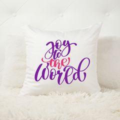 Joy to the world Christmas Cushion