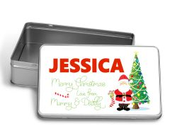 Personalised Santa Treat Tin