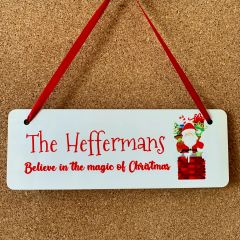 Personalised Christmas Santa Sign