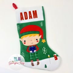 Personalised Elf Stocking