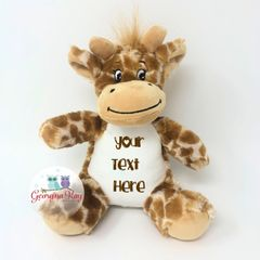 Small Personalised Plush Giraffe