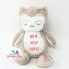 Small Personalised Plush Owl Teddy