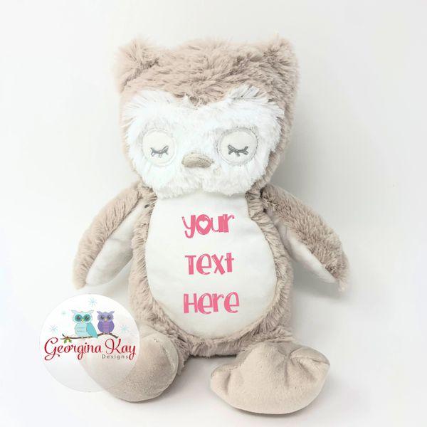 Small Personalised Plush Owl Teddy