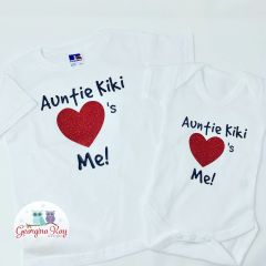 "Personalised ""Auntie loves me"" Tshirt or Babygrow"