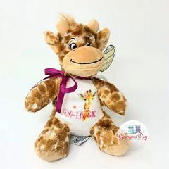 Personalised Giraffe Plush with Image