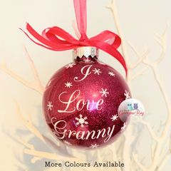 I Love Granny Christmas Bauble