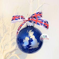 United Kingdom Themed Christmas Bauble