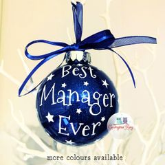 Best Manager Ever Bauble