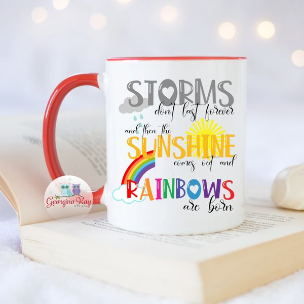 Storm, Sunshine and Rainbow Mug