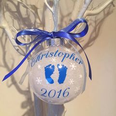 Angel Baby Memorial Bauble (Glitter)