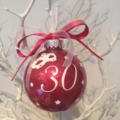 Number Christmas Bauble