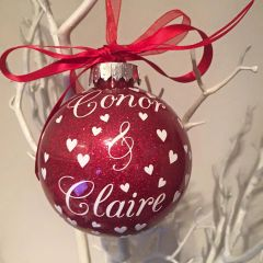Couples Name Bauble