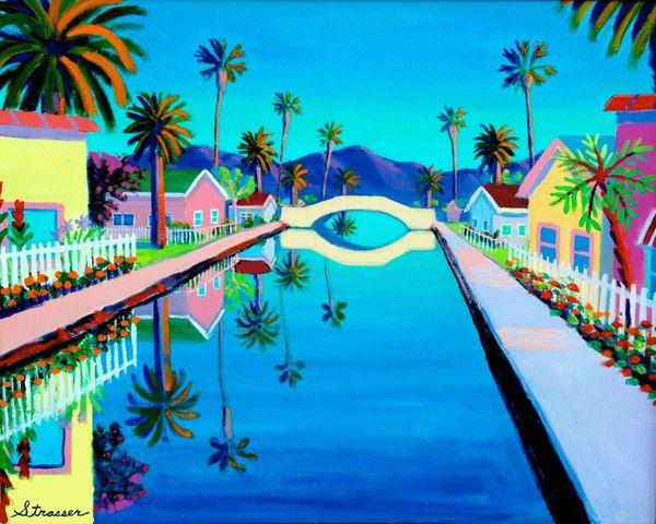 Blue Canal | 12 x 16 | Canvas Print