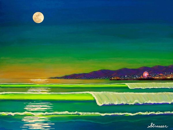 Venice Beach Moonlight | 24 x 32 | Canvas Print