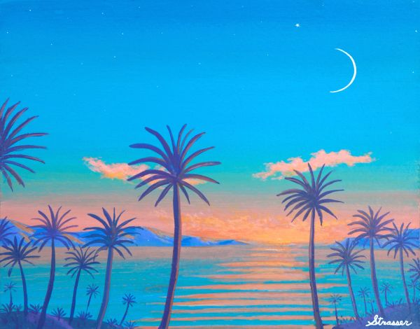 Tropical Twilight | 12 x 16 | Canvas Print