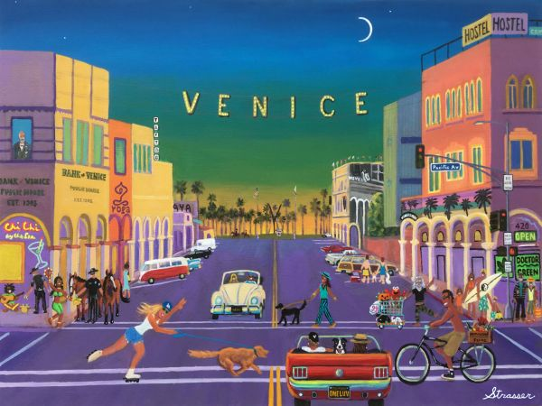 Abbot Kinney's Wildest Dream | 24 x 36 | Acrylic on Canvas Painting