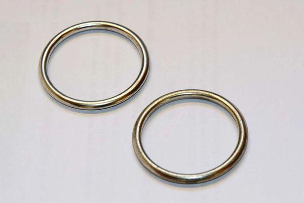 Exhaust metal crush ring gaskets PAIR Triumph Bonneville all models